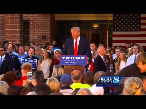 Republican front-runner speaks at high school's homecoming - 9.19.15 Students at Urbandale High School (a Des Moines, Iowa suburb) appealed to every presidential candidate to come for homecoming - 2 minutes   YouTube