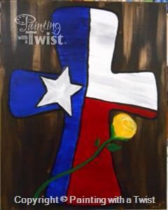 The Cross On Canvas Painting