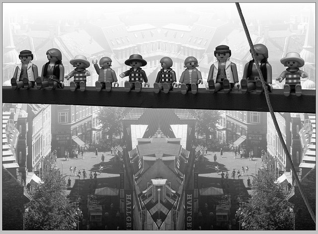 MOVIE playmobil ~ Lunch atop a skyscraper ebbets playmobil