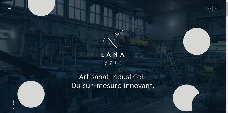 Direction artistique du site internet de la papeterie Lana en collaboration avec le studio Méta.