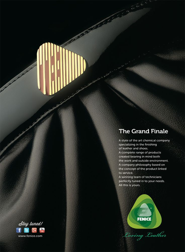 The Grand Finale // A state of the art chemical company specializing in the finishing of leather and shoes. A complete range of products created bearing in mind both the work and outside environment. A company philosophy based on the concept of the product linked to service. A winning team of technicians perfectly tuned in to your needs. All this is yours.