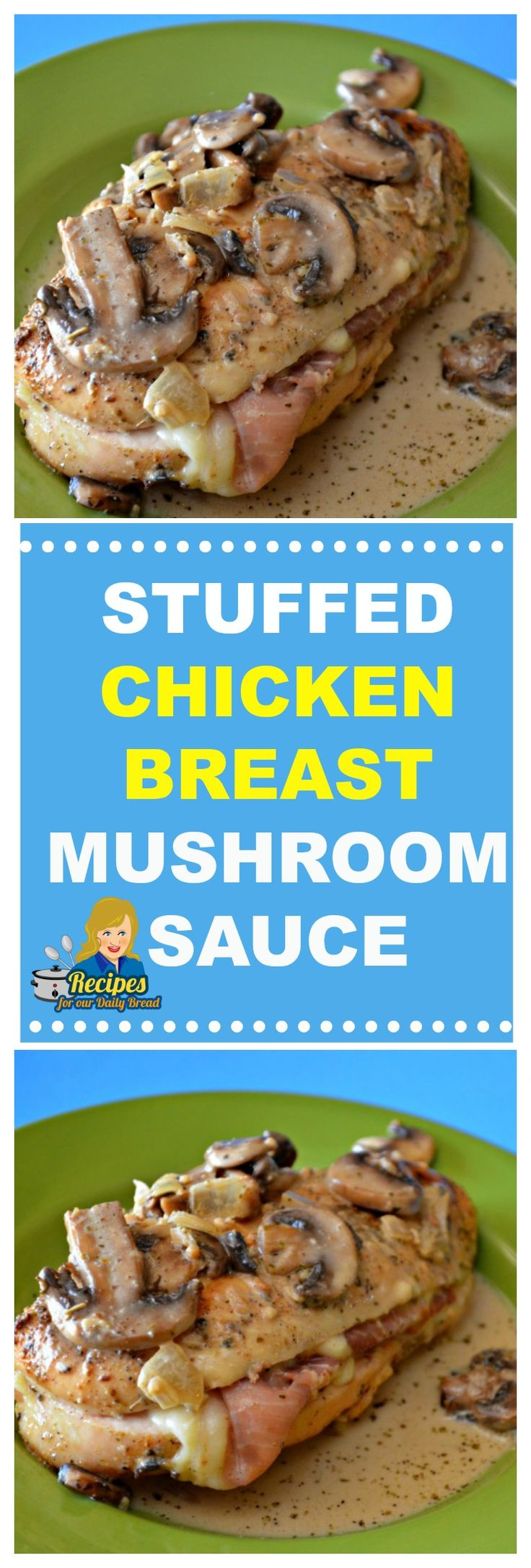 INSANE STUFFED CHICKEN BREAST CREAMY MUSHROOM SAUCE
