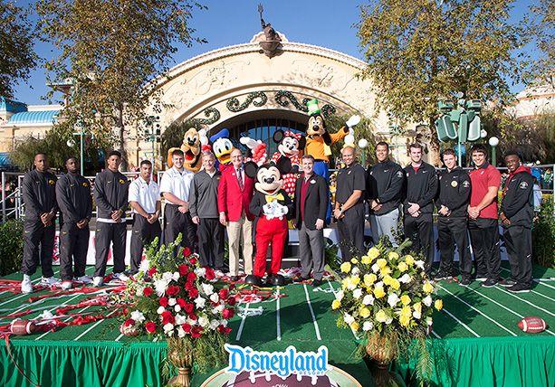 Disneyland Resort Welcomes Rose Bowl Game-Bound No. 5 Iowa and No. 6 Stanford Football Teams