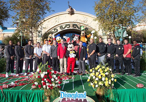 Disneyland Resort Welcomes Rose Bowl Game-Bound No. 5 Iowa and No. 6 Stanford Football Teams
