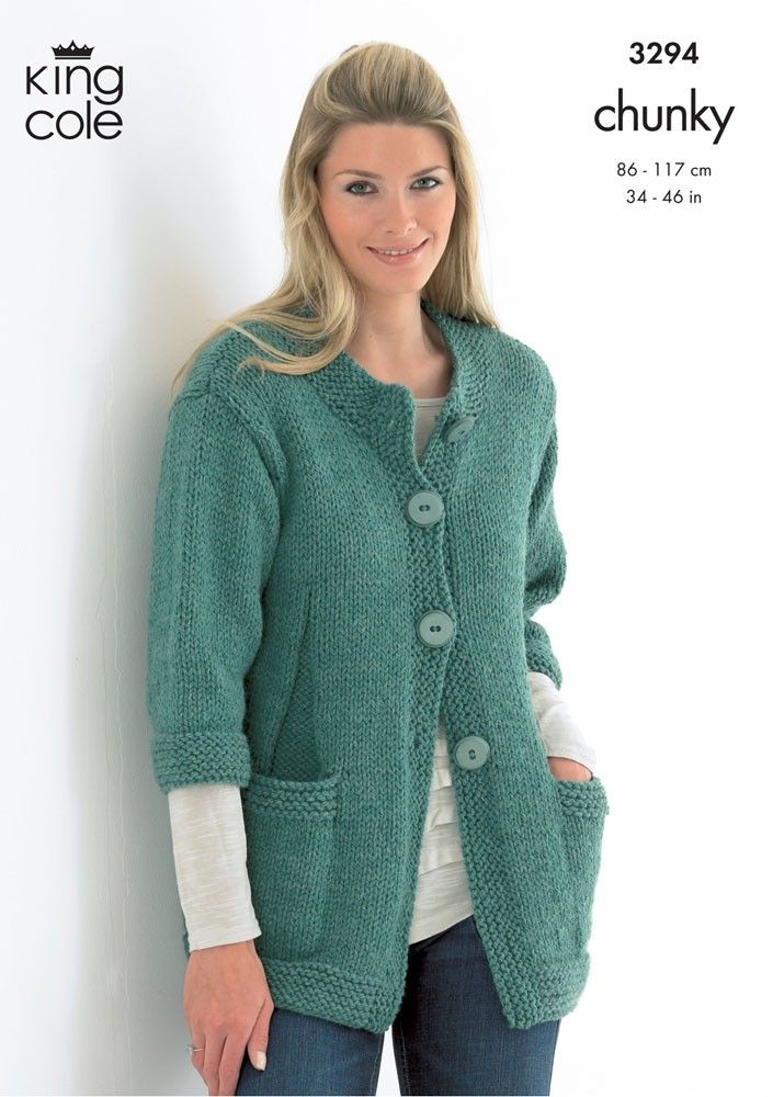 Sweater & Jacket in King Cole Magnum Chunky - 3294 - Yarn Weight - Patterns