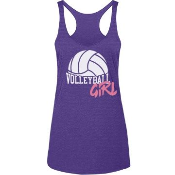 "Trendy Volleyball Girl | Are you a volleyball girl? Play for a school or beach volleyball team? Show off your crazy cool skills with this cute and trendy ""Volleyball Girl"" tank top."