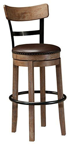 TThis pub height bar stool serves a sense of refinement without all the formality. A 180-degree spin element keeps you in the flow of conversation, while faux leather upholstered seating incorporates comfort and easy cleanup. WP Site Guardian Professional 12 Month OTO (WPMC2) Fat Demolisher... more details available at https://furniture.bestselleroutlets.com/game-recreation-room-furniture/home-bar-furniture/barstools/product-review-for-ashley-furniture-signature-design-pinnad