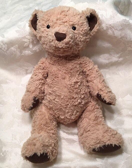 "12"" Jellycat Teddy Bear Plush Brown Tan Black Eyes  | eBay"