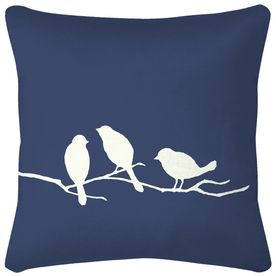 love itAccent Pillows, Birds Pillows, Navy Pillows