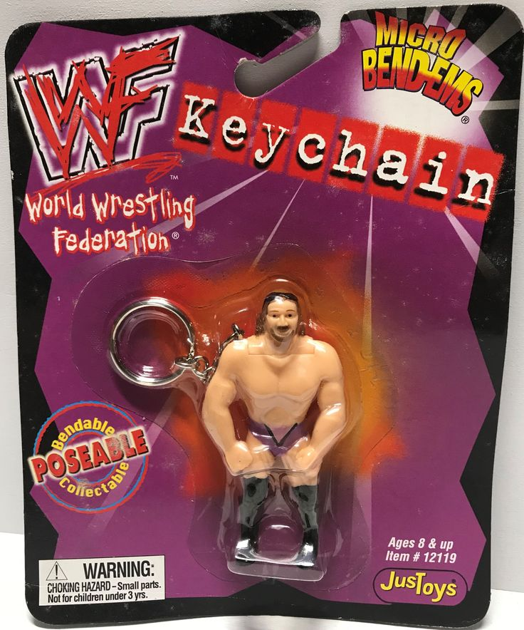 This just in at The Angry Spider Vintage Toy Store: TAS002021 - 1999 ...  Check it out here! http://theangryspider.com/products/tas002021-1999-just-toys-wwe-micro-bend-ems-keychain-val-venis?utm_campaign=social_autopilot&utm_source=pin&utm_medium=pin