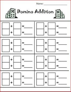 dice and domino addition and subtraction fun math kindergarten math addition subtraction. Black Bedroom Furniture Sets. Home Design Ideas