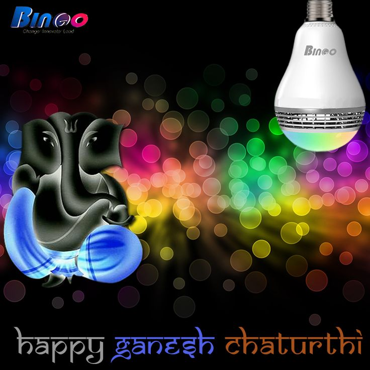 """Wishing you all lots of happiness & Lord Ganesha's Blessings on the auspicious occasion of """" Ganesha Chaturthi""""."""