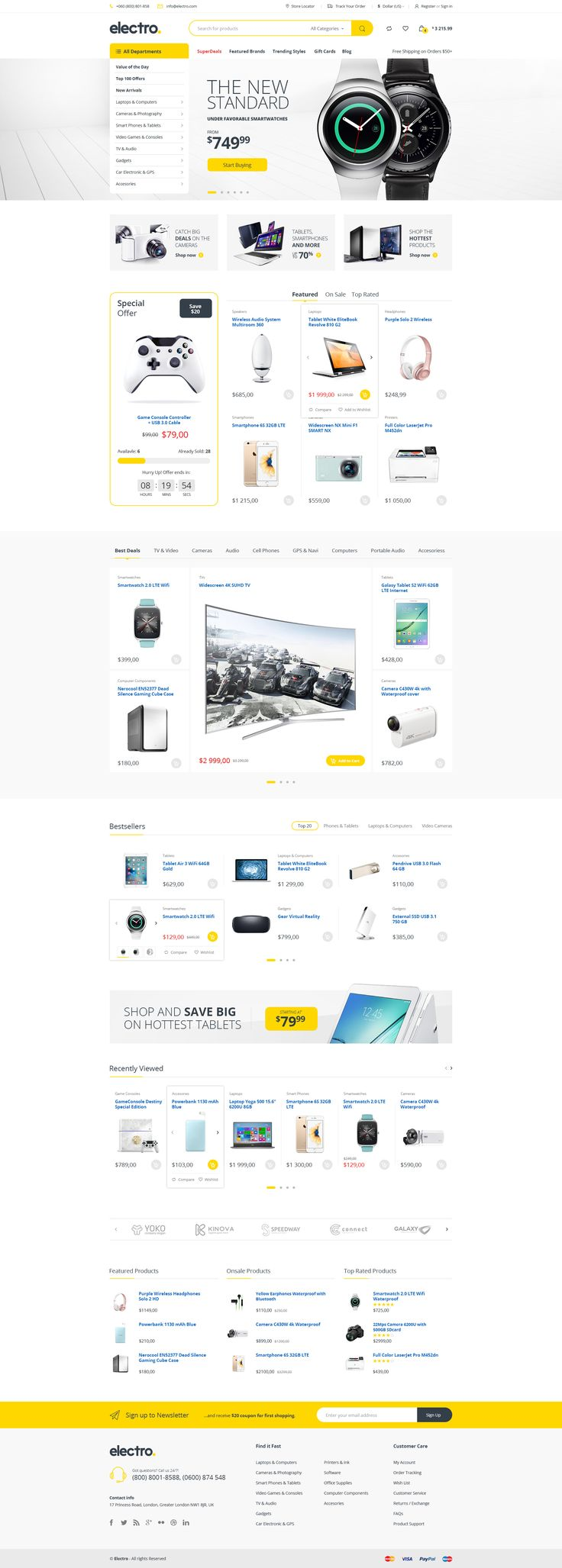 Electro - Electronics eCommerce PSD - PSD Templates | ThemeForest