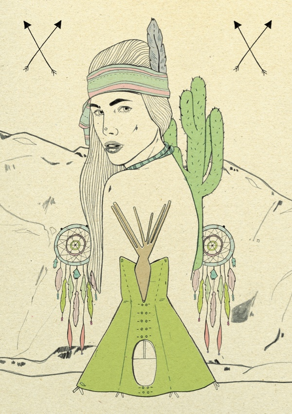 The Native American Indians by madalogo , via Behance