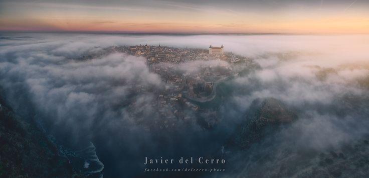 Foggy. - Panoramic view taken from a drone DJI Phantom 3 Professional.