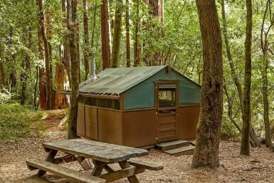 Camping is Great Under the Big Trees at Big Basin Redwoods State Park: Tent Cabin at Big Basin Redwoods