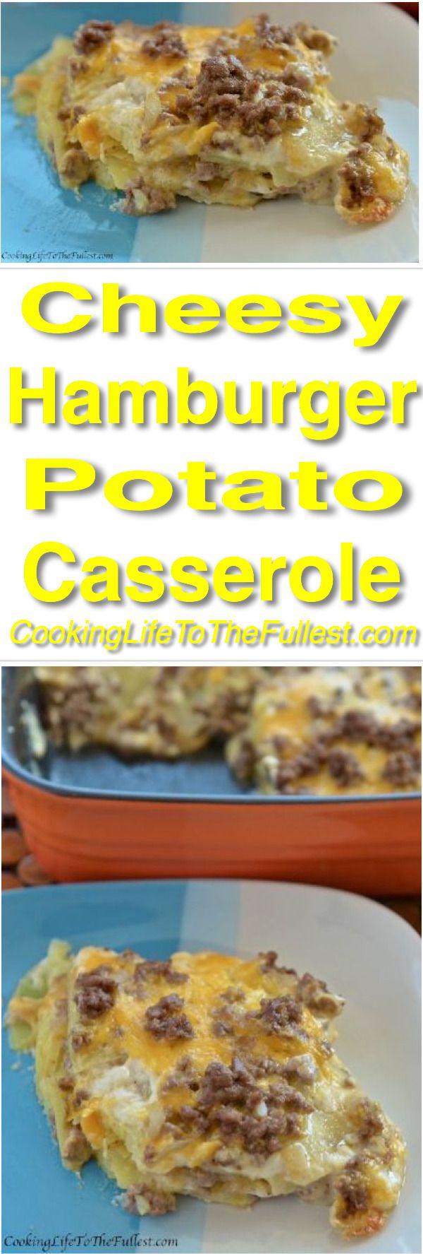 Cheesy Hamburger and Potato Casserole