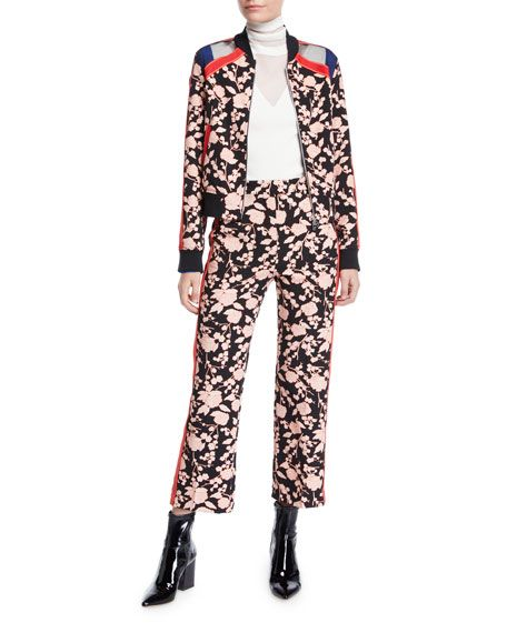 aaa22a0840 PINKO Floral Zip-Front Bomber Jacket and Matching Items & Matching Items |  Neiman Marcus