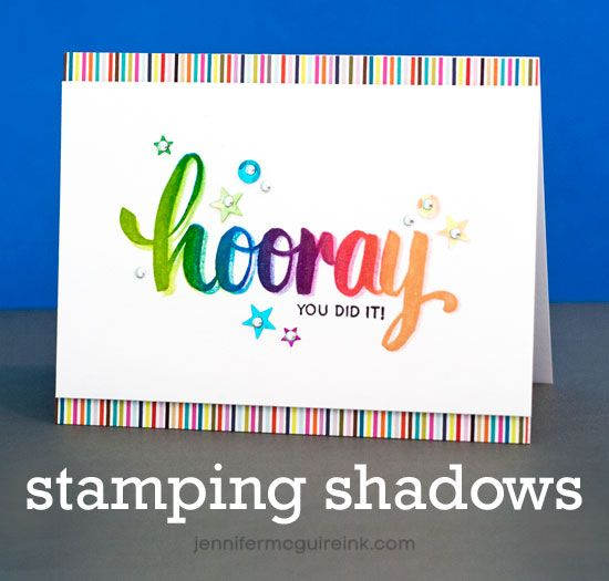 Video: Stamping Shadows + Discount Code + Giveaway | Jennifer McGuire Ink