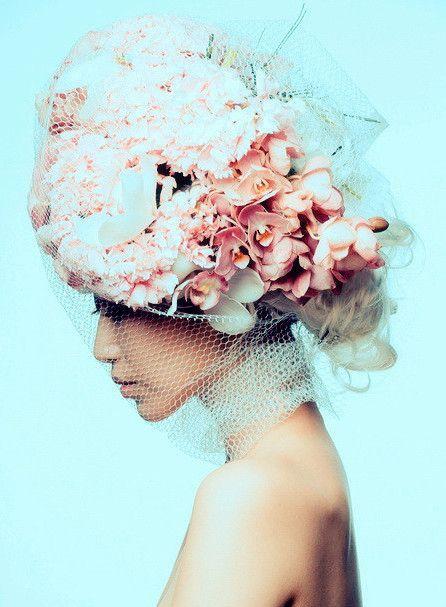 chapeau fleuris
