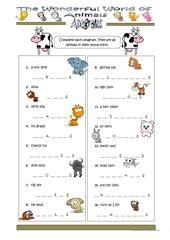 Domino animals worksheet - Free ESL printable worksheets made by teachers