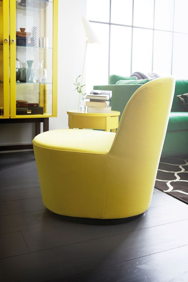 Sit back or spin around with the stockholm swivel easy - Sillon reclinable ikea ...