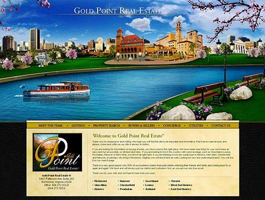 Website Real Estate Desain Terbaik - Gold Point Real Estate ® - Richmond, Virginia
