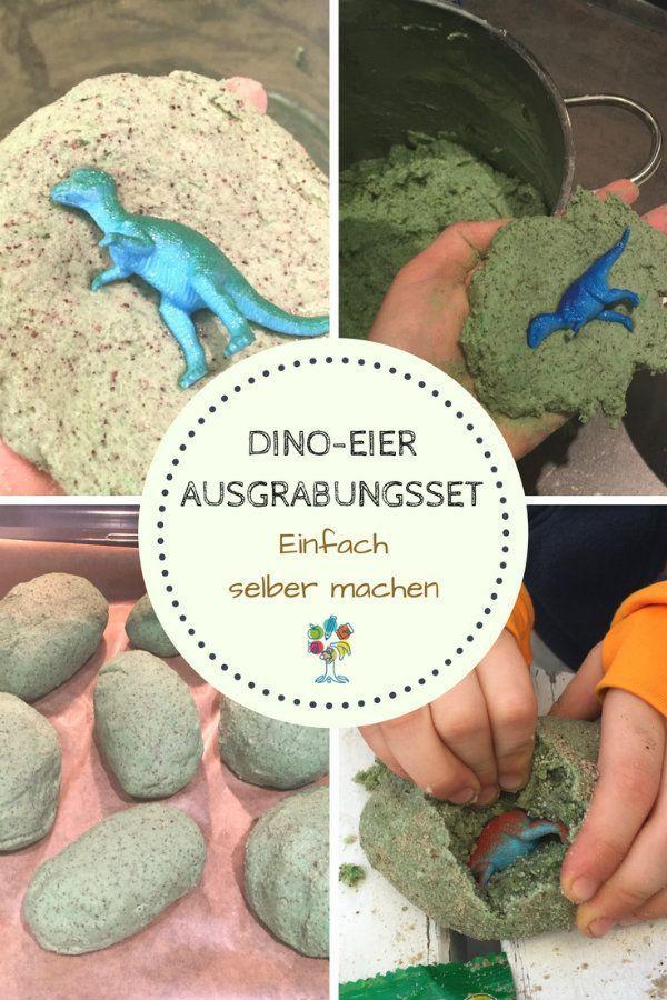 Dino egg to dig yourself out  – Basteln mit Kindern
