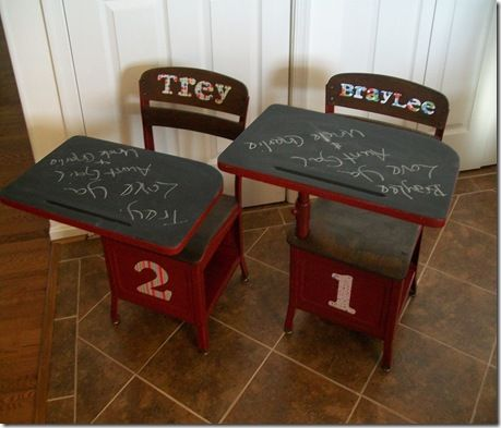 For Repainting The Old School Desk
