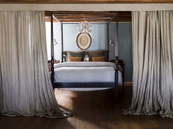 寝室、カーテン使いが素敵☆