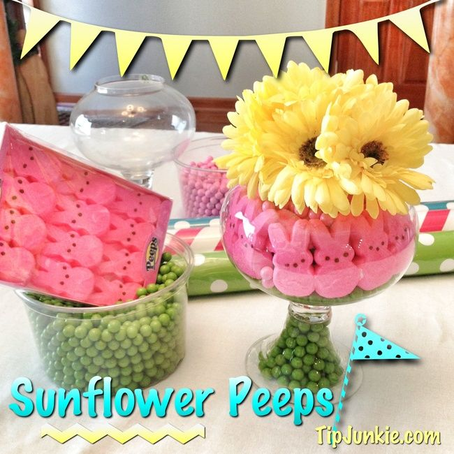 How To Make Peeps Sunflower Centerpiece