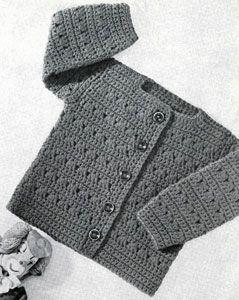 Patrón gratis chalequito crochet talla 1-2 y 3 años