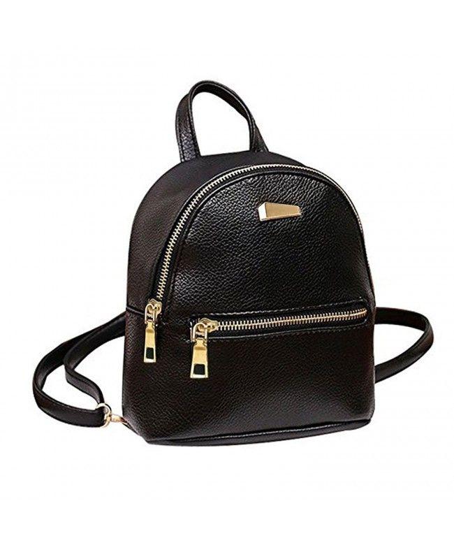 f1df360478 Girl Floral School Bag Travel Cute PU Leather Mini Backpack - Black3 -  CI12JPAV25X  Bags  Handbags  Backpacks  gifts  Style