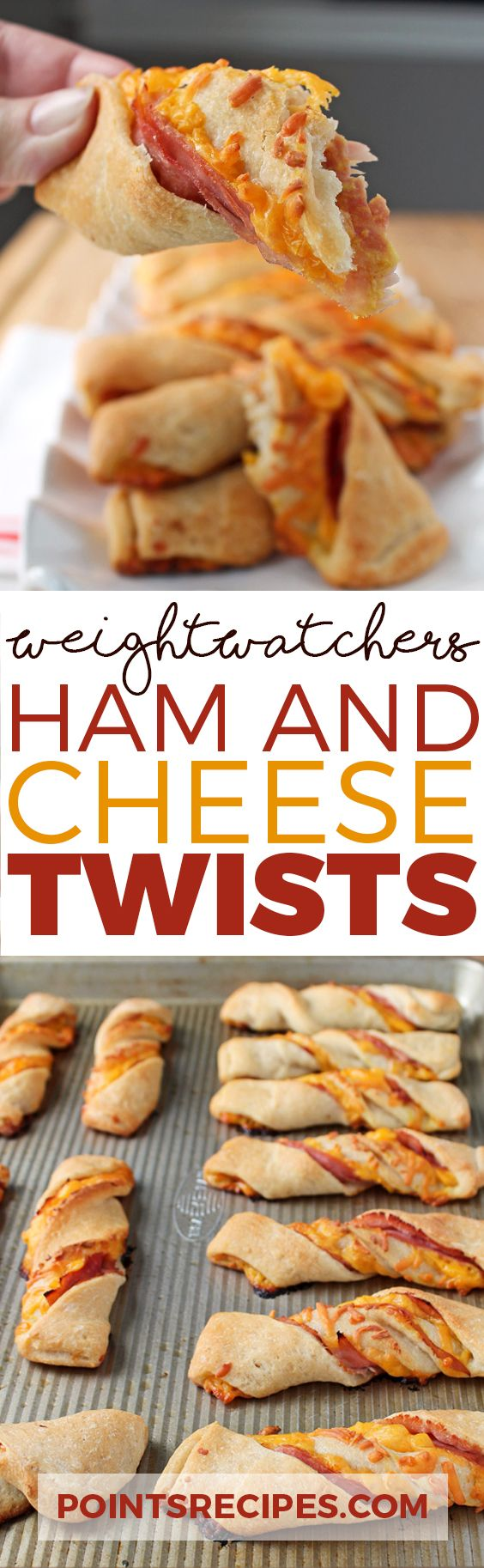 Ham and Cheese Twists (Weight Watchers SmartPoints)