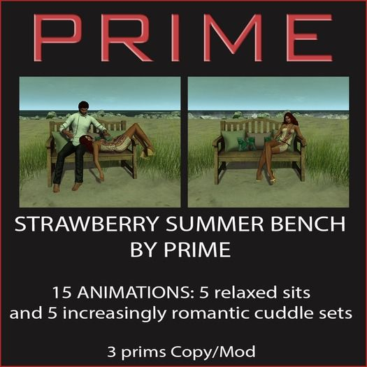 Strawberry summer bench by PRIME