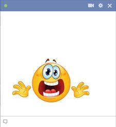 Stressed Emoticon Facebook Chat Code