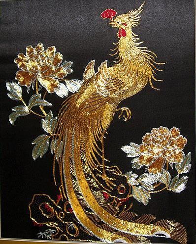 Hand embroidery phoenix by Suzhou embroidery, via Flickr