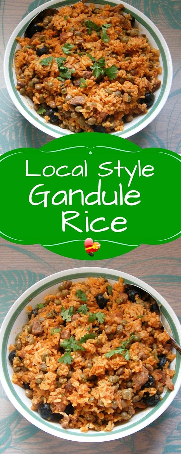 404 best ono local hawaiian food moms faves images on pinterest a tasty gandule rice local style recipe use chopped pork to make it a hearty lunch or dinner forumfinder Images