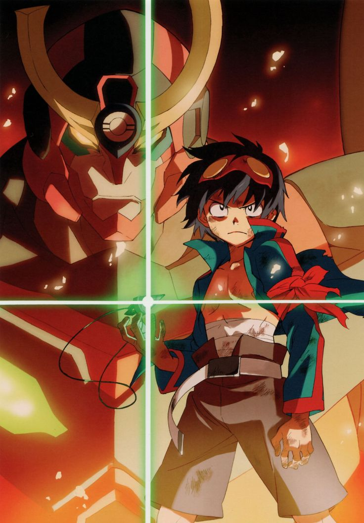 Anime Tengen Toppa Gurren Lagann Simon