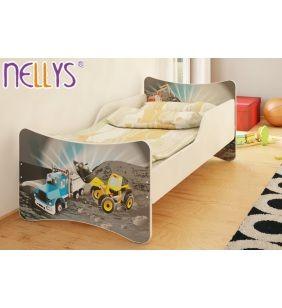 Posteľ Nellys ® - Bager a nákladiak