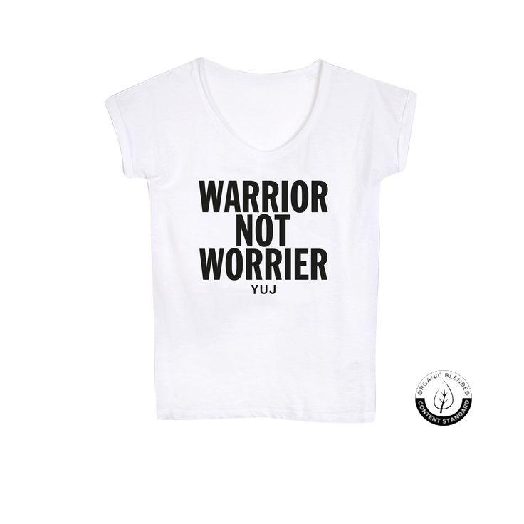 WARRIOR Tee-shirt Blanc - Coton bio