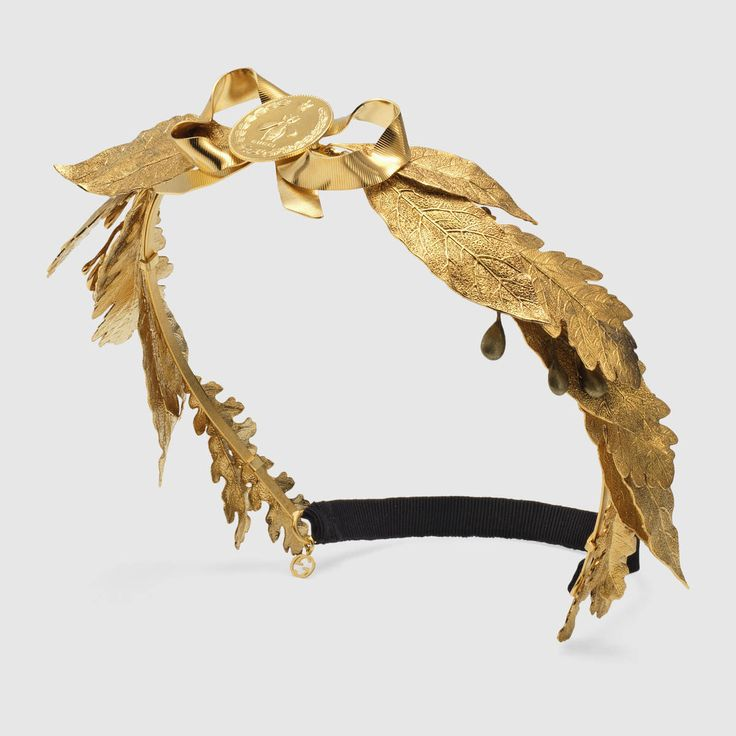 Gucci Metal leaves hairband  Detail 2