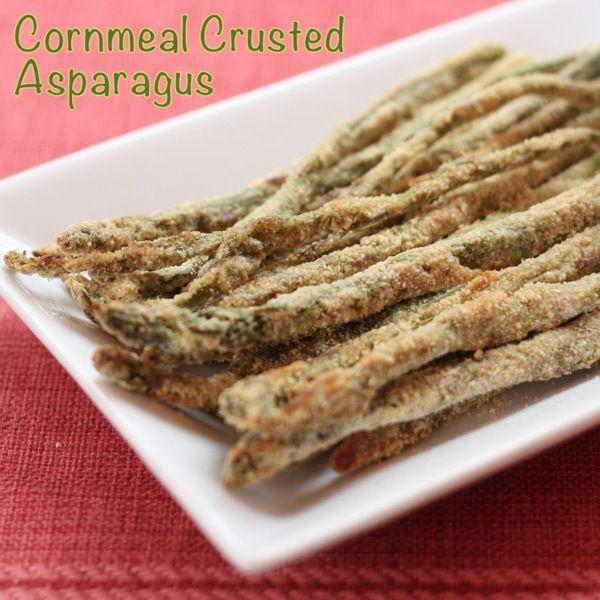Cornmeal Crusted Asparagus | cupcakesandkalechips.com | #sidedish #side #glutenfree #vegetarian #vegetables
