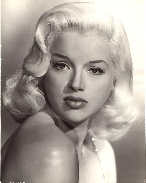 Nice sharp image of Diana Dors, essentially Britain's Jean Harlow.
