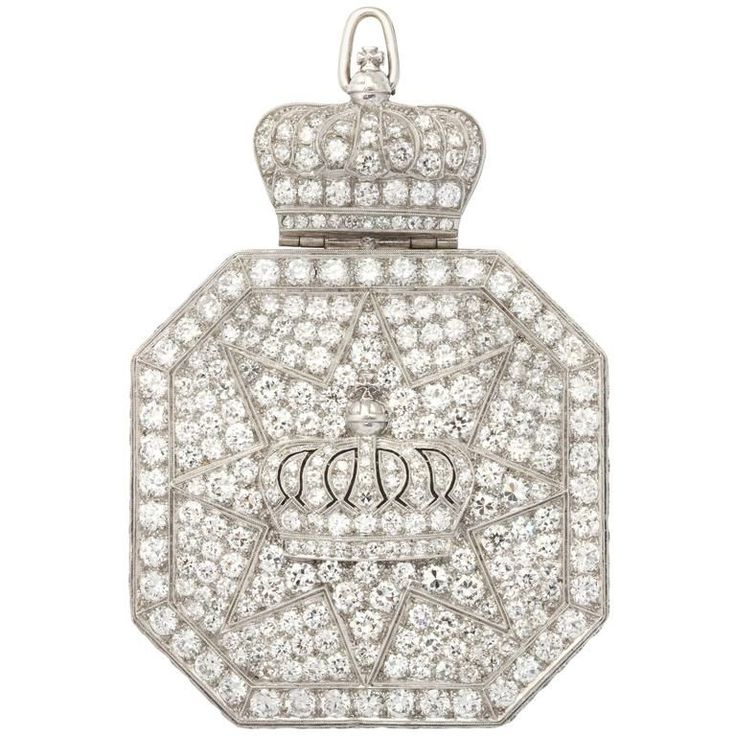Art Deco Royal Vacheron Constantin Diamond Pocket Watch Pendant | From a unique collection of vintage pocket watches at https://www.1stdibs.com/jewelry/watches/pocket-watches/
