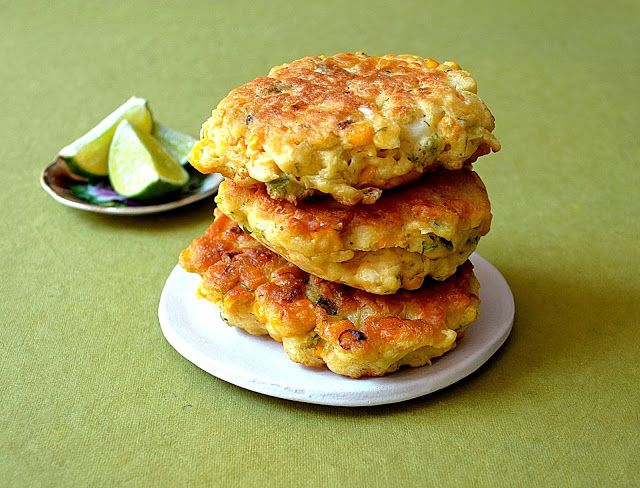 Thai-Inspired Corn Fritters ~ A little Sweet with Some Heat