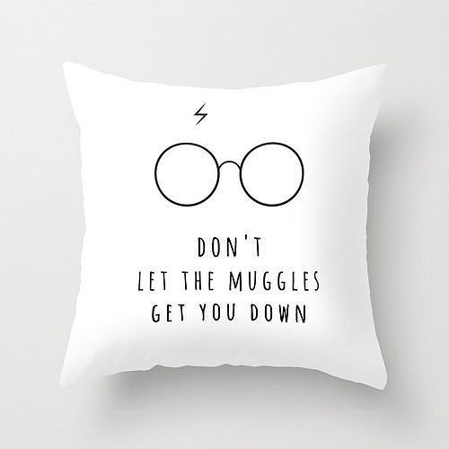 Don't Let The Muggles Get You Down Pillow ($22) | 31 Spell-Binding Harry Potter Gifts For Every Fangirl on Earth | POPSUGAR Tech