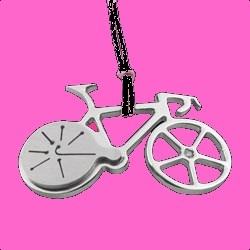 Stainless steel bike pendent with diamond  Made in Italy  € 49,00