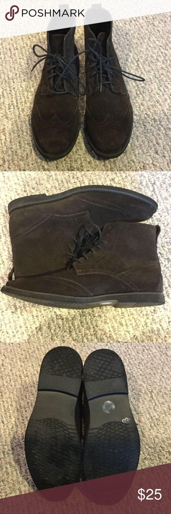 Calvin Klein men's chukka boots! Gently worn Calvin Klein brown chukka boots.  Still in great condition! Calvin Klein Shoes Chukka Boots