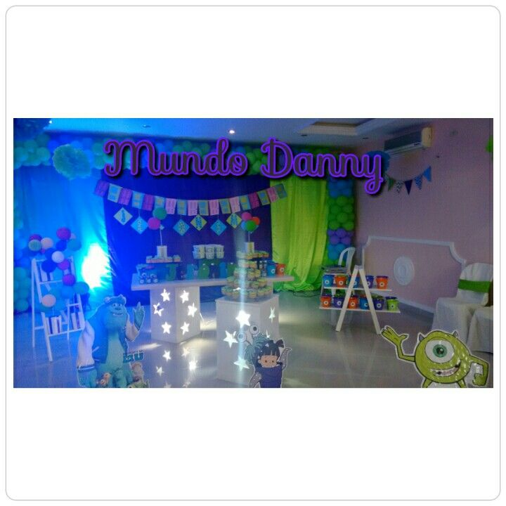 Monster inc party tbeme. Monstros sa